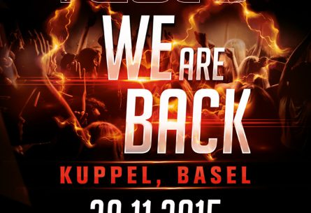 WE ARE BACK - Flyer DIN A5 Vorderseite