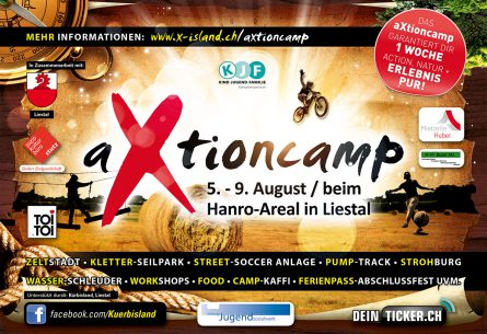 aXtioncamp - Flyer DIN A5 Front