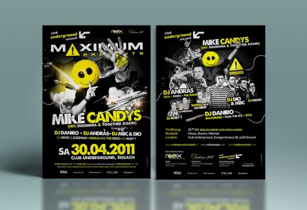 Mike Candys Flyer DIN A5