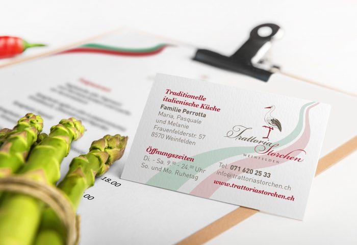Trattoria Storchen - Branding, CI-Entwicklung
