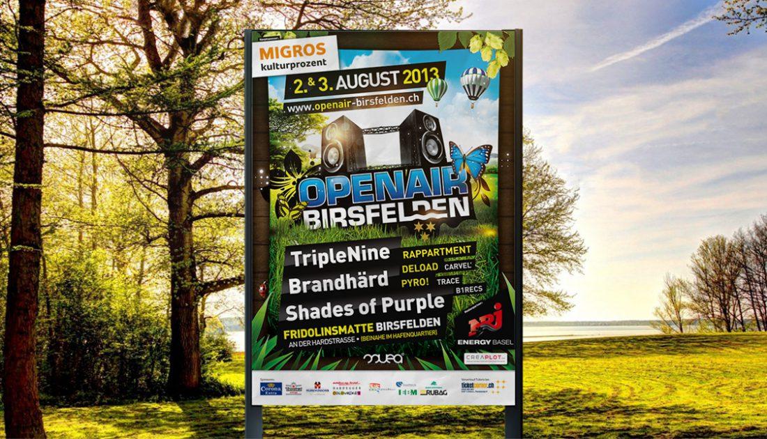 Openair Birsfelden - APG Plakat