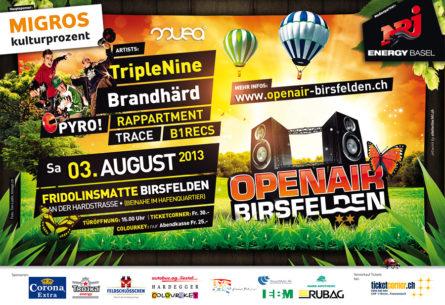 Openair Birsfelden - Flyer DIN A5