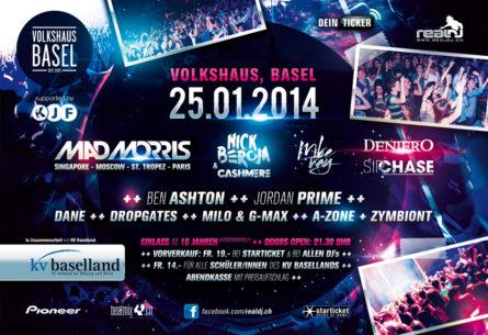 EDMF Electronic Dance Music Festival 2014 - Flyer DIN A5 Rückseite