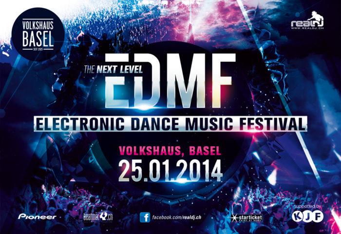 EDMF Electronic Dance Music Festival 2014 - Flyer DIN A5 Vorderseite