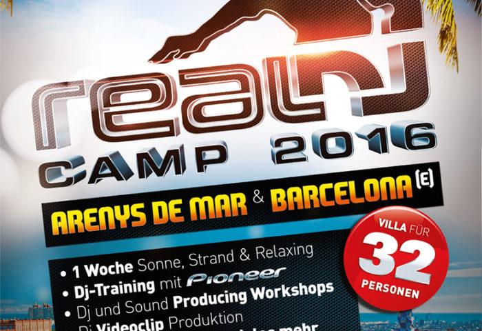 RealDJ Camp 2016 - Flyer DIN A5 Vorderseite