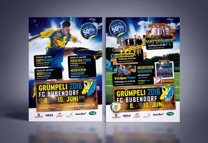 FC Bubendorf Gruempeli 2018 Flyer A5