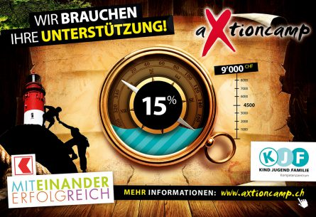 aXtioncamp - Flyer Spendenbarometer BLKB