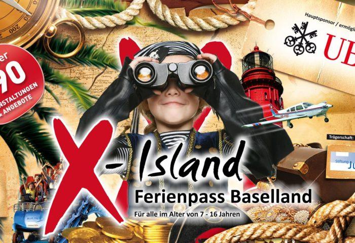 Ferienpass X-Island Baselland Artwork