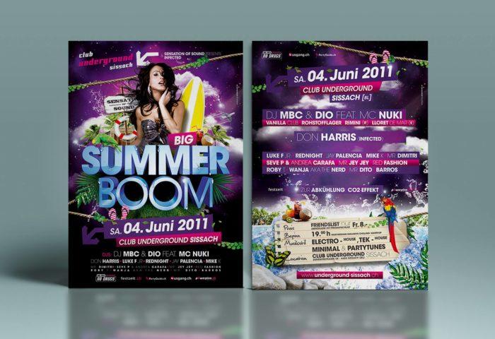 Summer Boom Flyer DIN A5