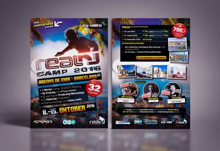 RealDJ Camp Flyer DIN A5