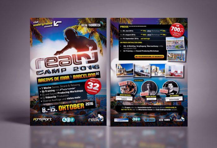 RealDJ Camp Flyer DIN A5