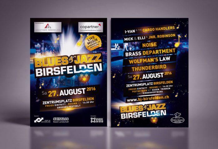 Blues & Jazz Birsfelden Flyer DIN A5