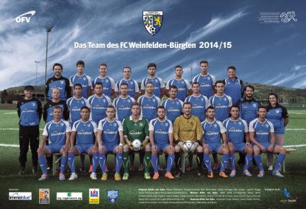FC Weinfelden-Bürglen - 1. Mannschaft Artwork DIN A3