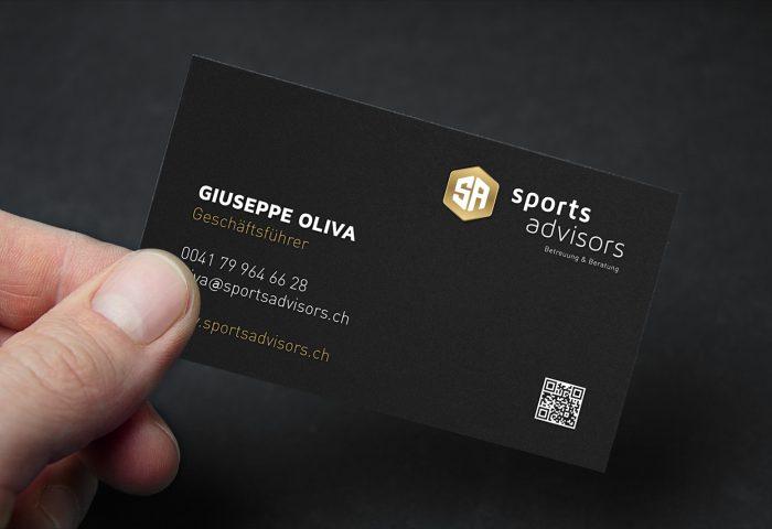 SportsAdvisors - Branding, CI-Entwicklung