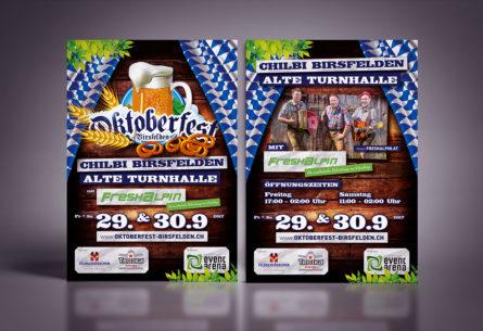 Oktoberfest Birsfelden 2017 - Flyer DIN A5