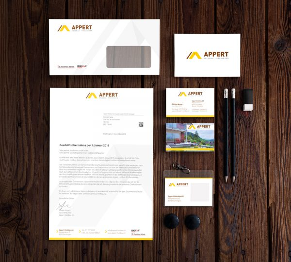 Appert Holzbau AG - Corporate Identity