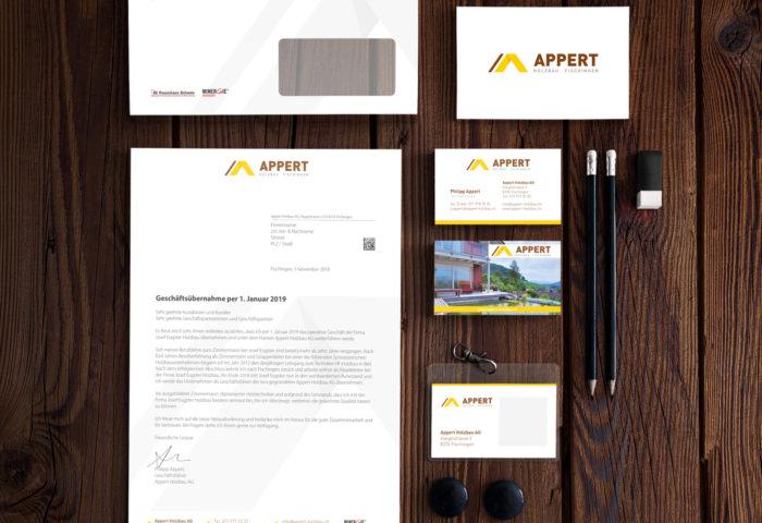 Appert Holzbau AG - Corporate Identity