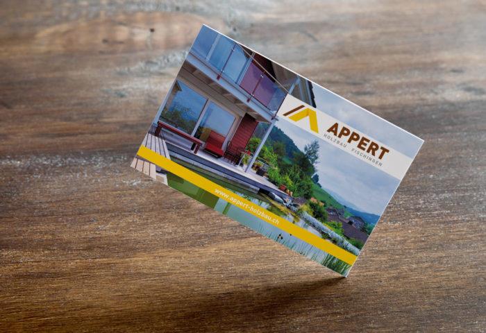 Appert Holzbau AG - Visitenkarte