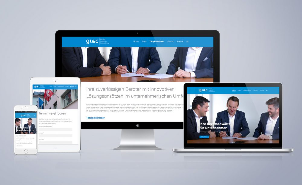 GLC Gayler Legal & Consulting - Responsive Web Design