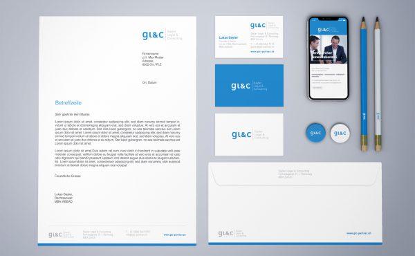 GLC Gayler Legal & Consulting - CI-Entwicklung